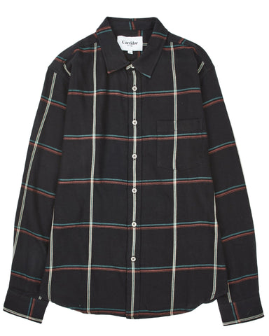 Black Plaid LS