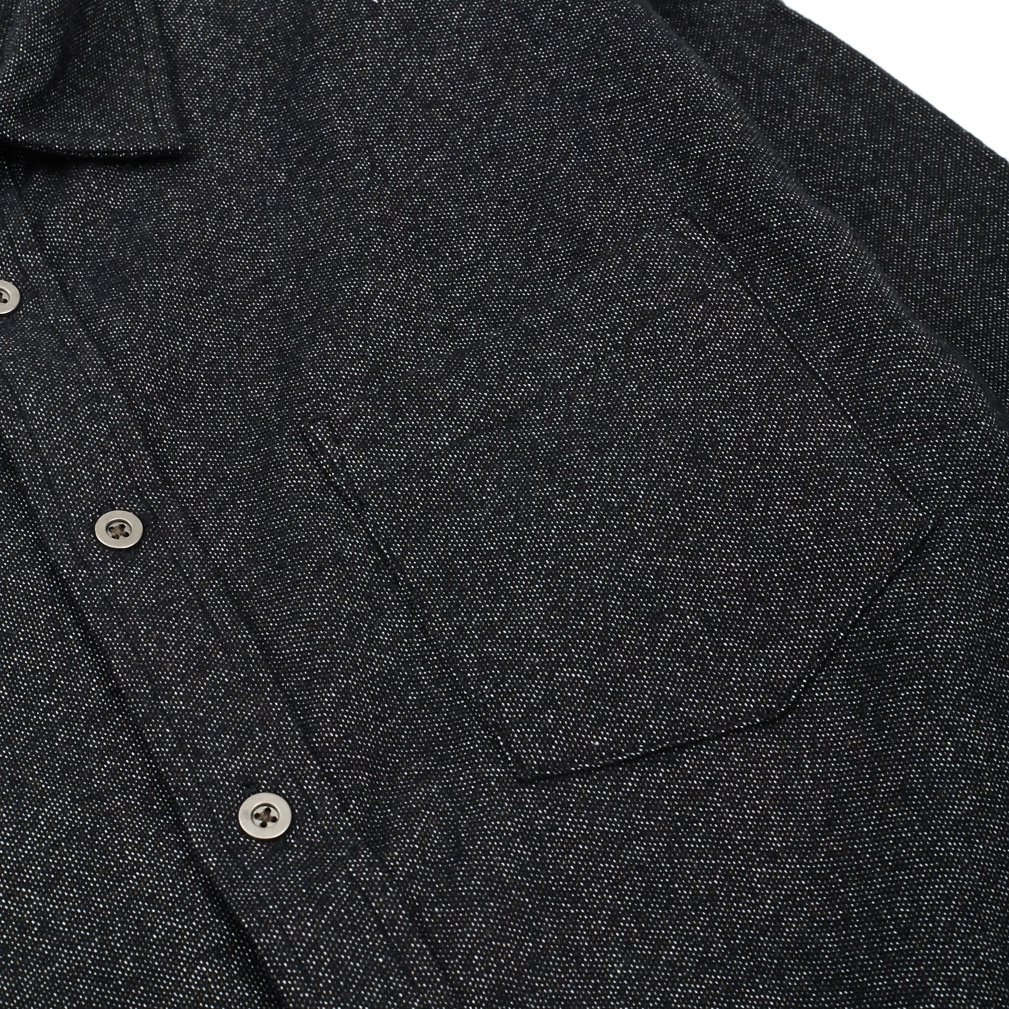 Brushed Flecked Black Flannel LS