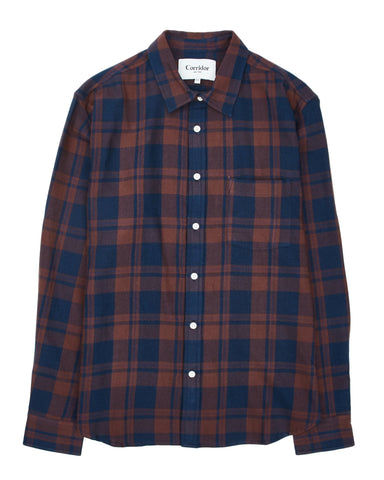 Clay Indigo Plaid Flannel LS