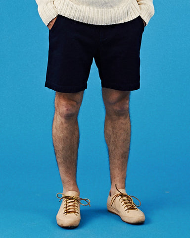 Rinsed Indigo Herringbone Shorts