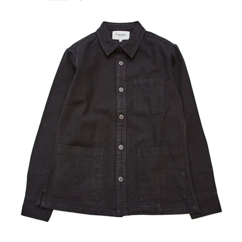 Black Canvas Overshirt
