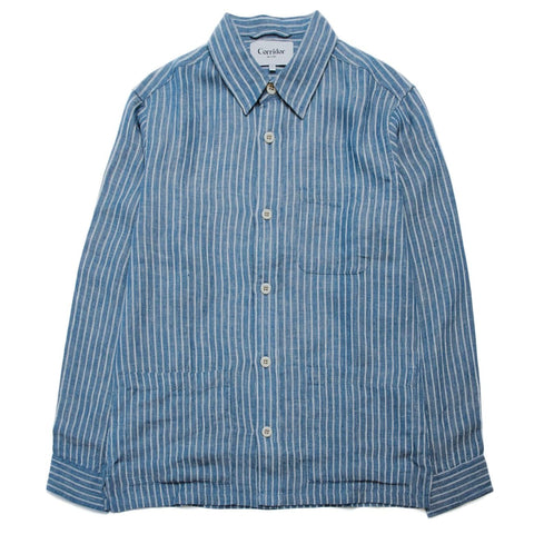 Blue Heavy Linen Overshirt