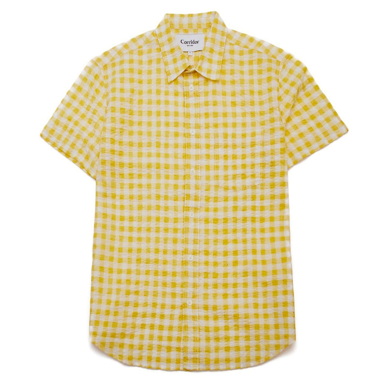 Watercolor Gingham Yellow SS