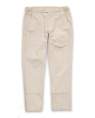 Natural Canvas Flap Pants