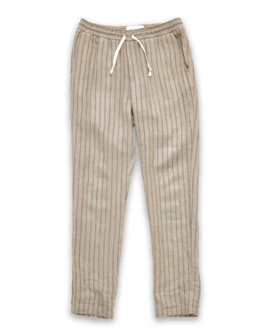 Natural Stripe Draw String Pants