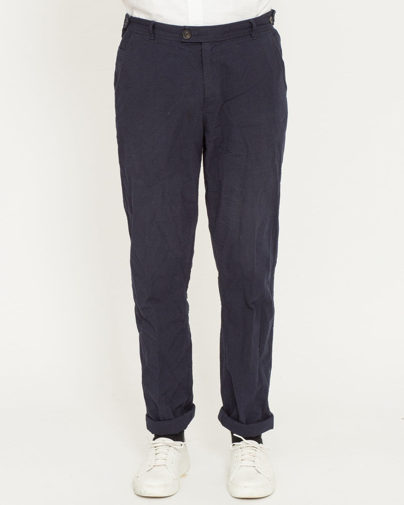 Seersucker Trousers - Navy