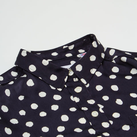 Navy Thumb Dot Women's LS