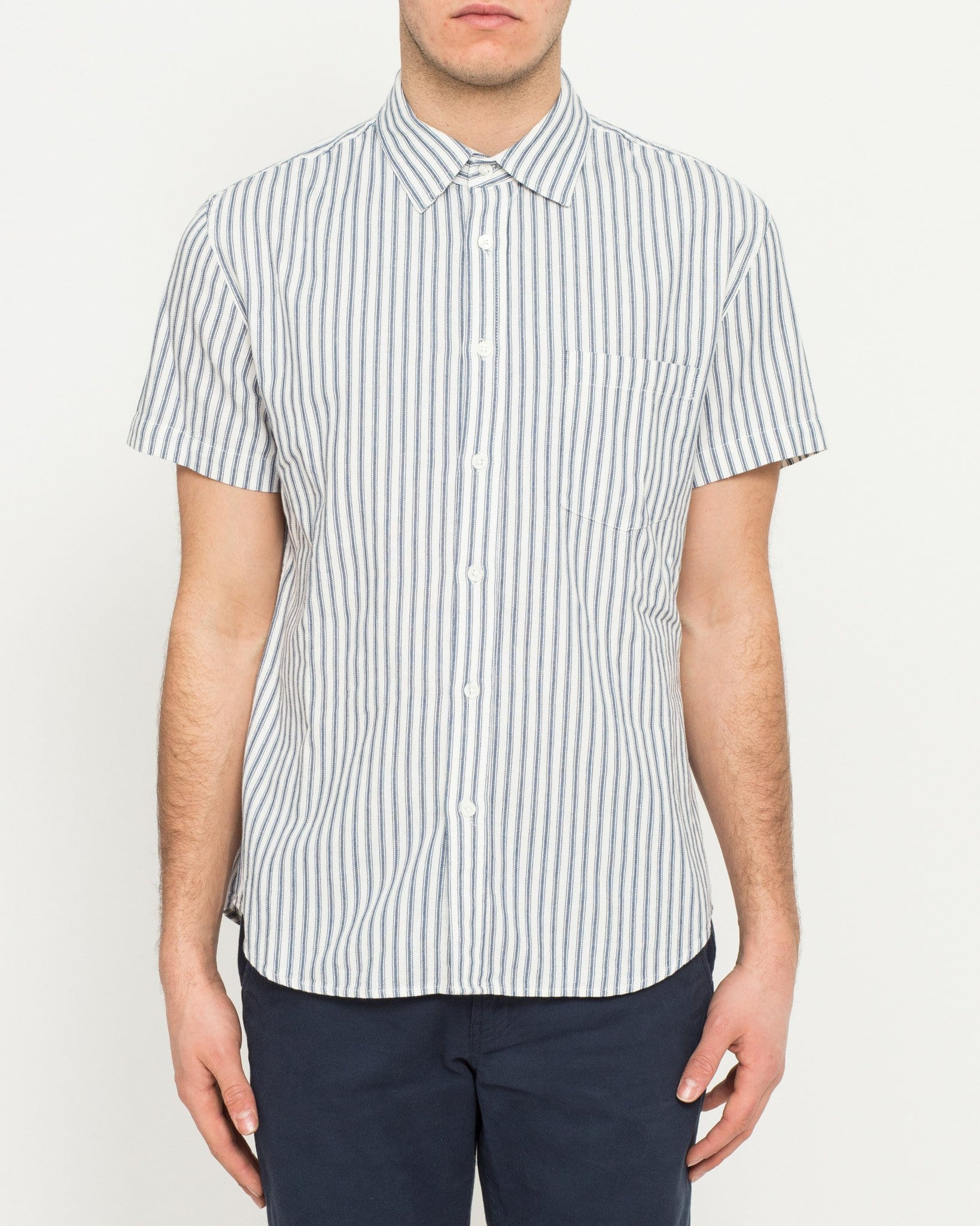 Ticking Stripe - Navy