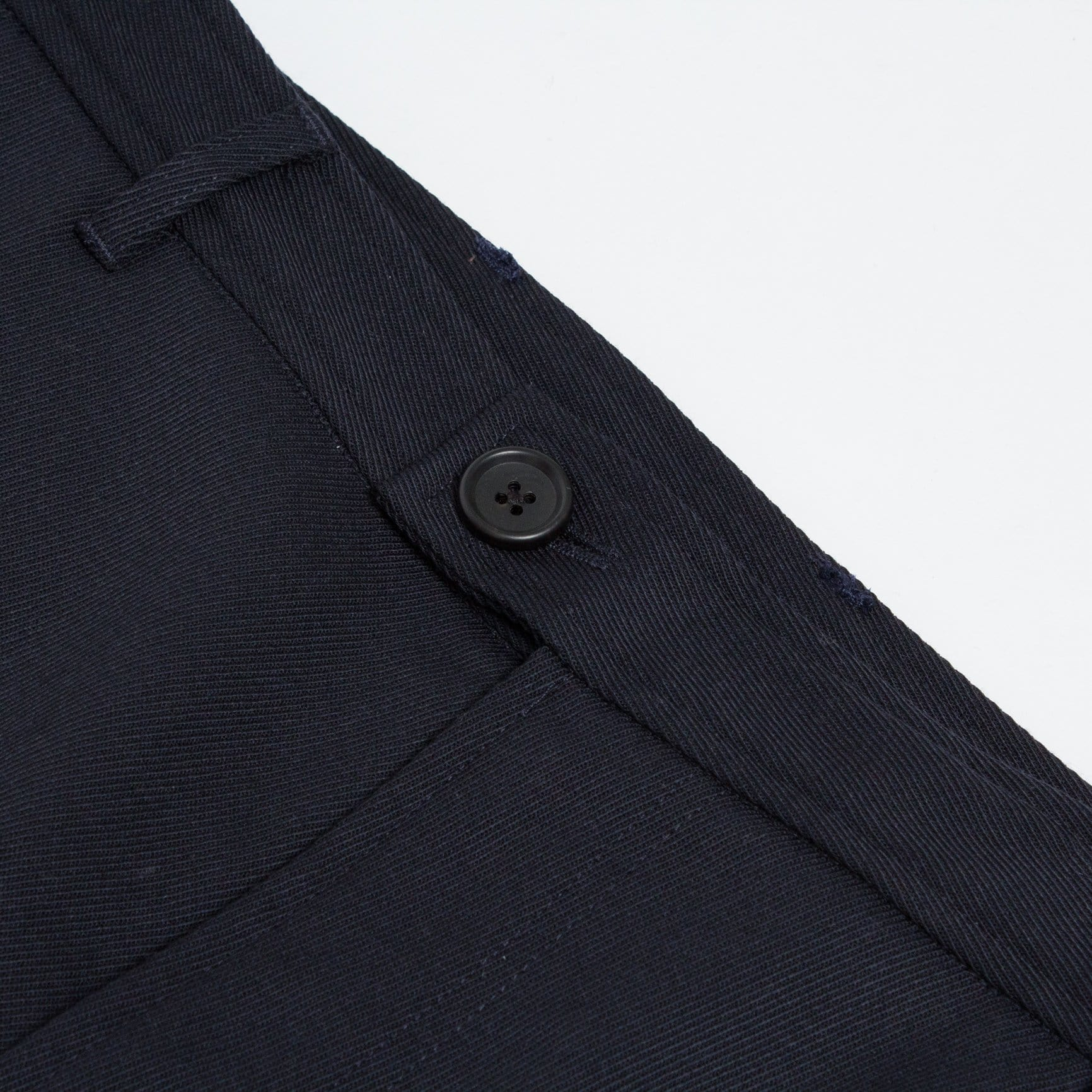 Navy Twill Wool Travel Trousers