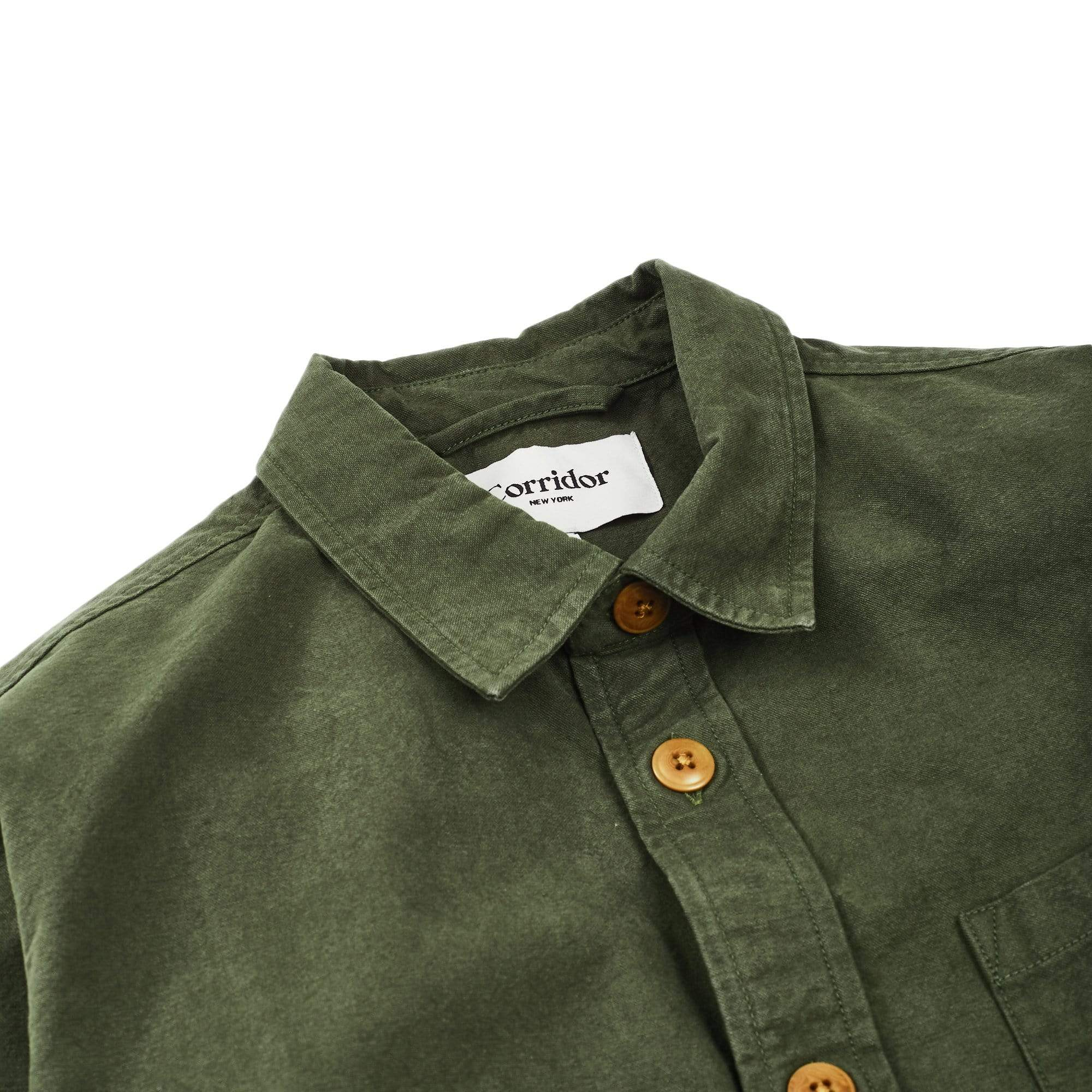 Heavy Canvas Overshirt - Olive