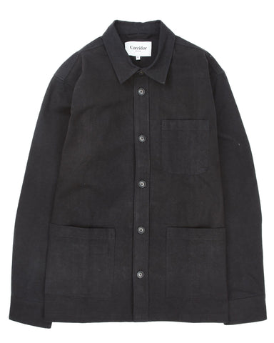 Heavy Canvas Overshirt - Black
