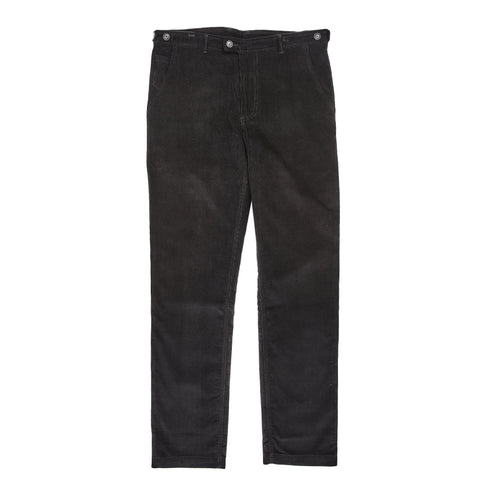 Black 14 Wale Cord Slim Pants