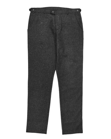 Charcoal Wool Tweed Lined Trousers