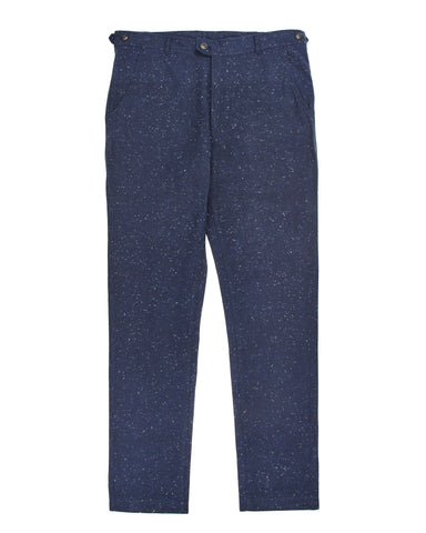 Slub Heavy Navy Slim Pants