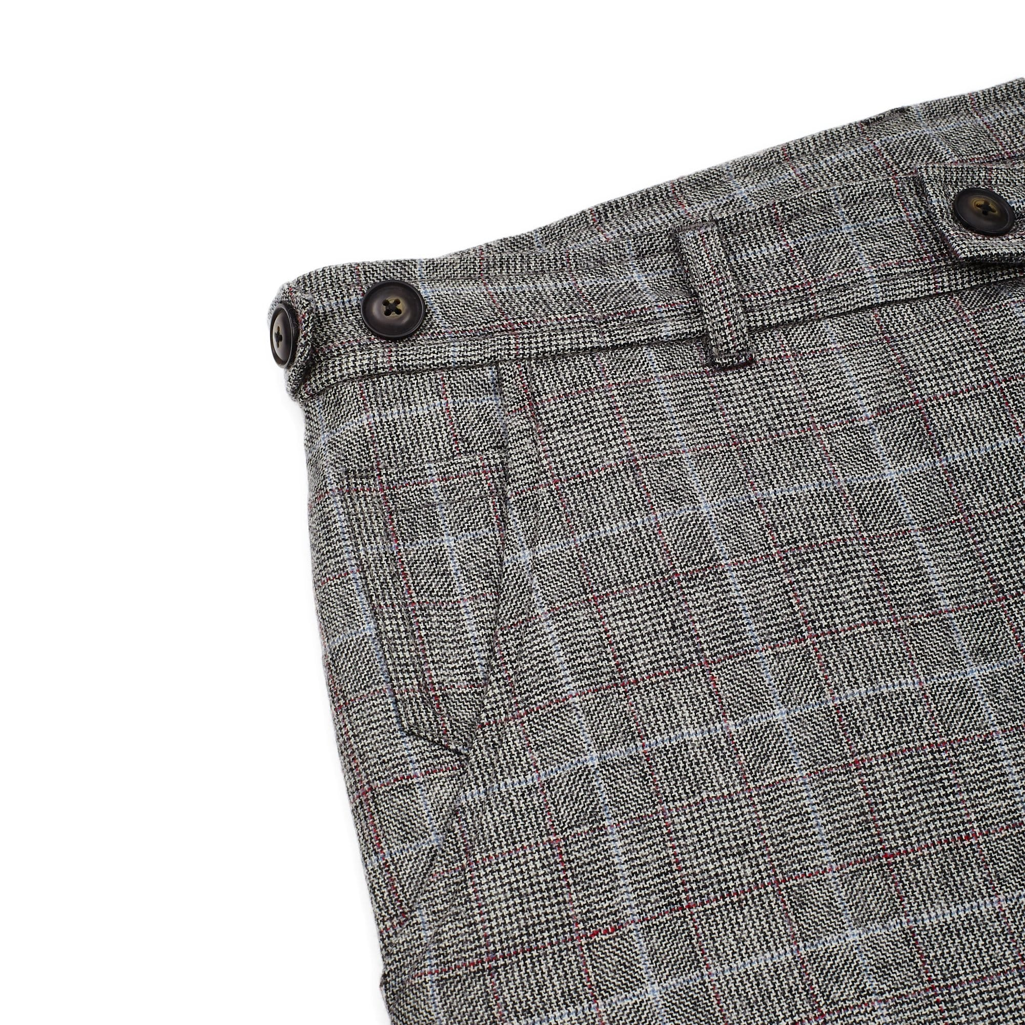 Wool Glencheck Lined Trousers
