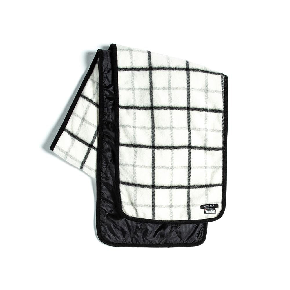 Eastlogue Quilting Scarf- White & Black Check