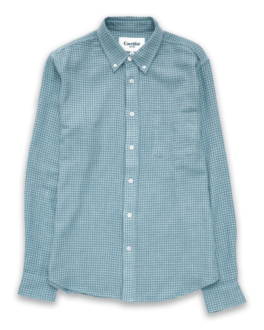 Sky Blue Summertime Check LS