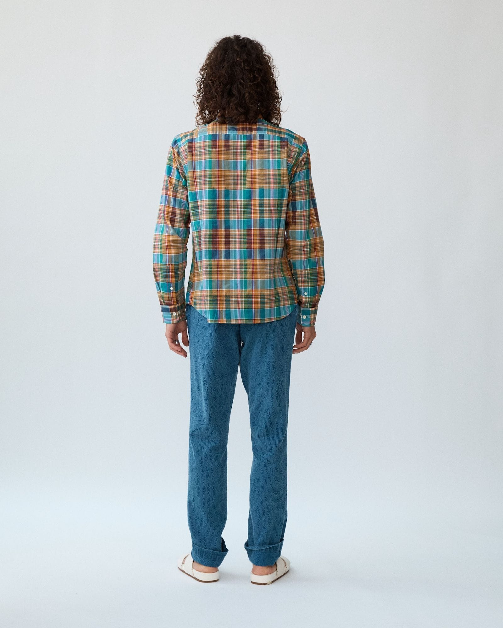 Summer Retro Madras Button Down