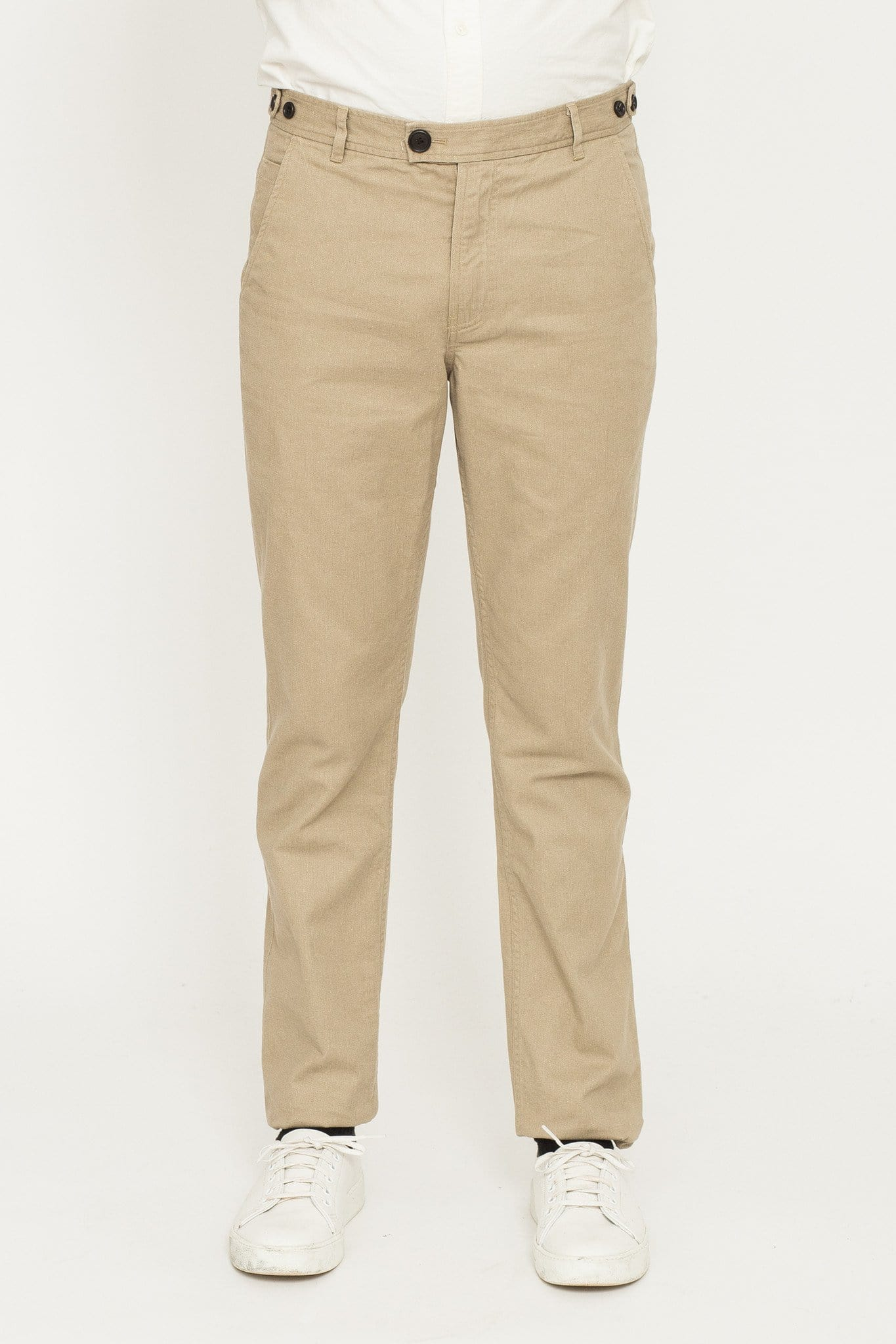 Brushed Twill Chino - Khaki