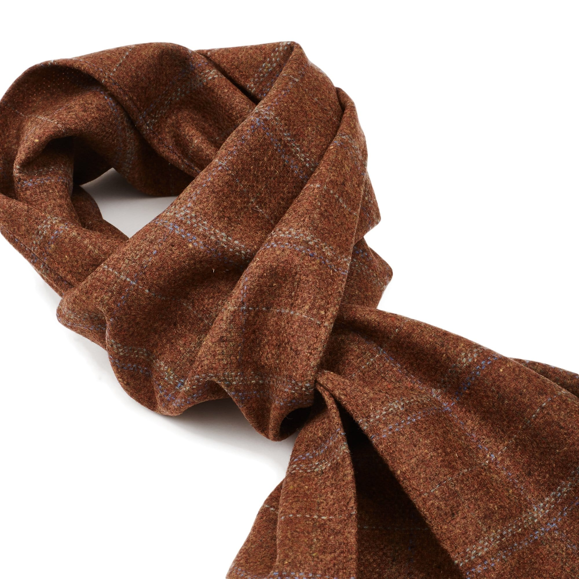 Lambswool Scarf - Clay Check