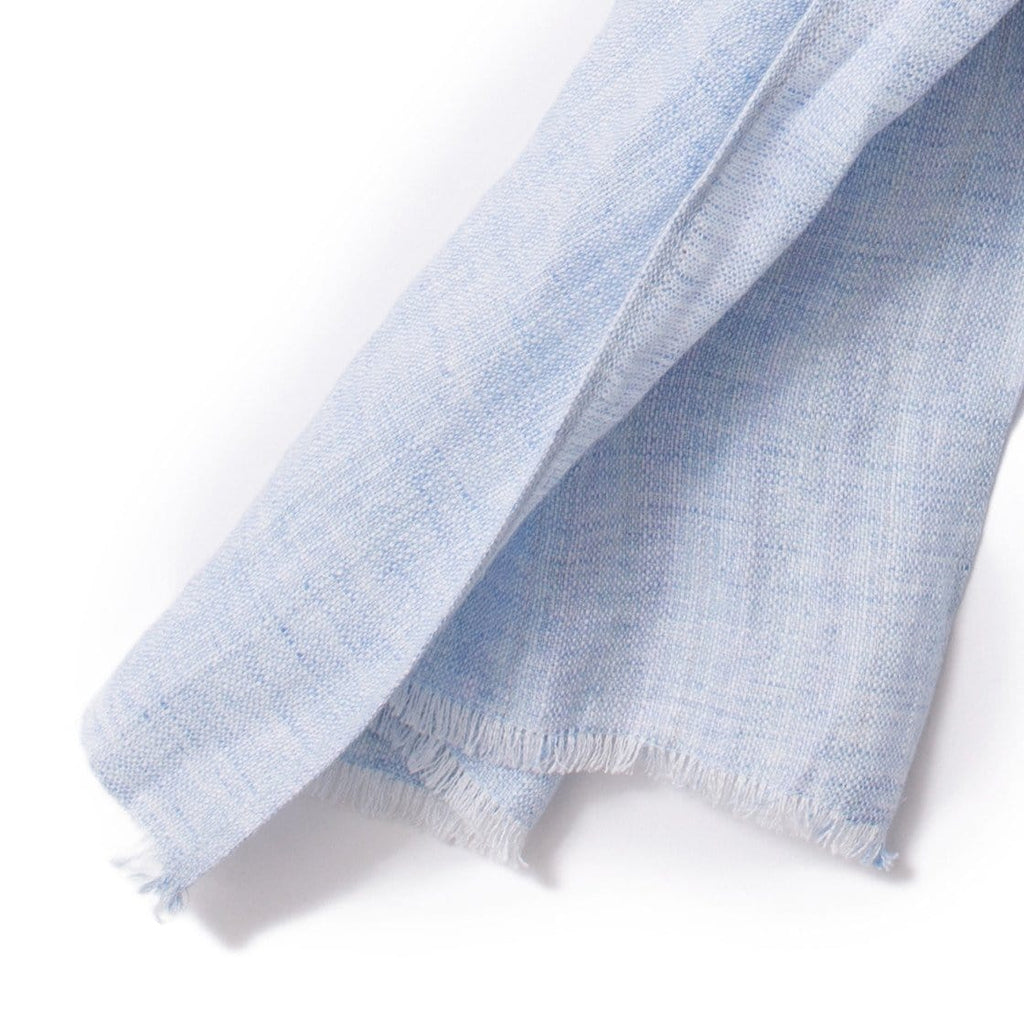 Light Blue Linen Scarf