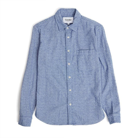 Speckle Blue Flannel LS