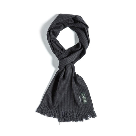 Eastlogue Scarf- Navy & Charcoal Stripe