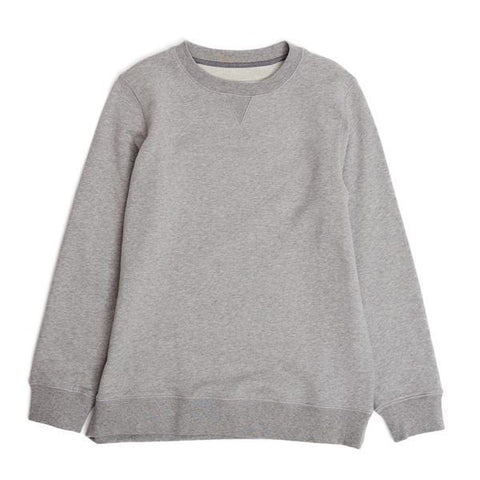 Grey Melange Loopback Sweatshirt