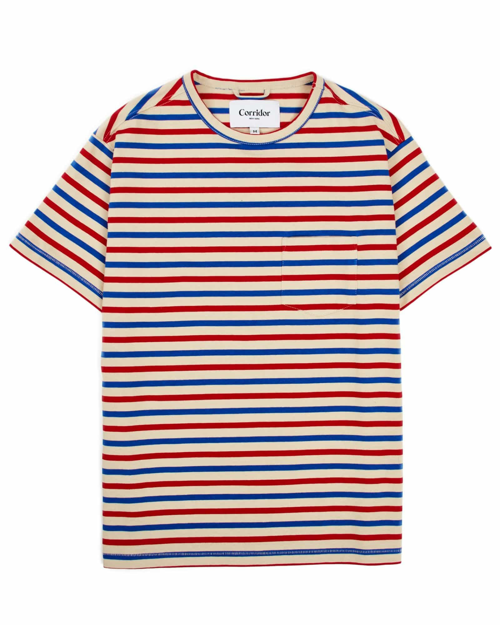 Blue Red Stripe T-Shirt
