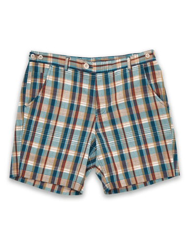 Teal Madras Shorts