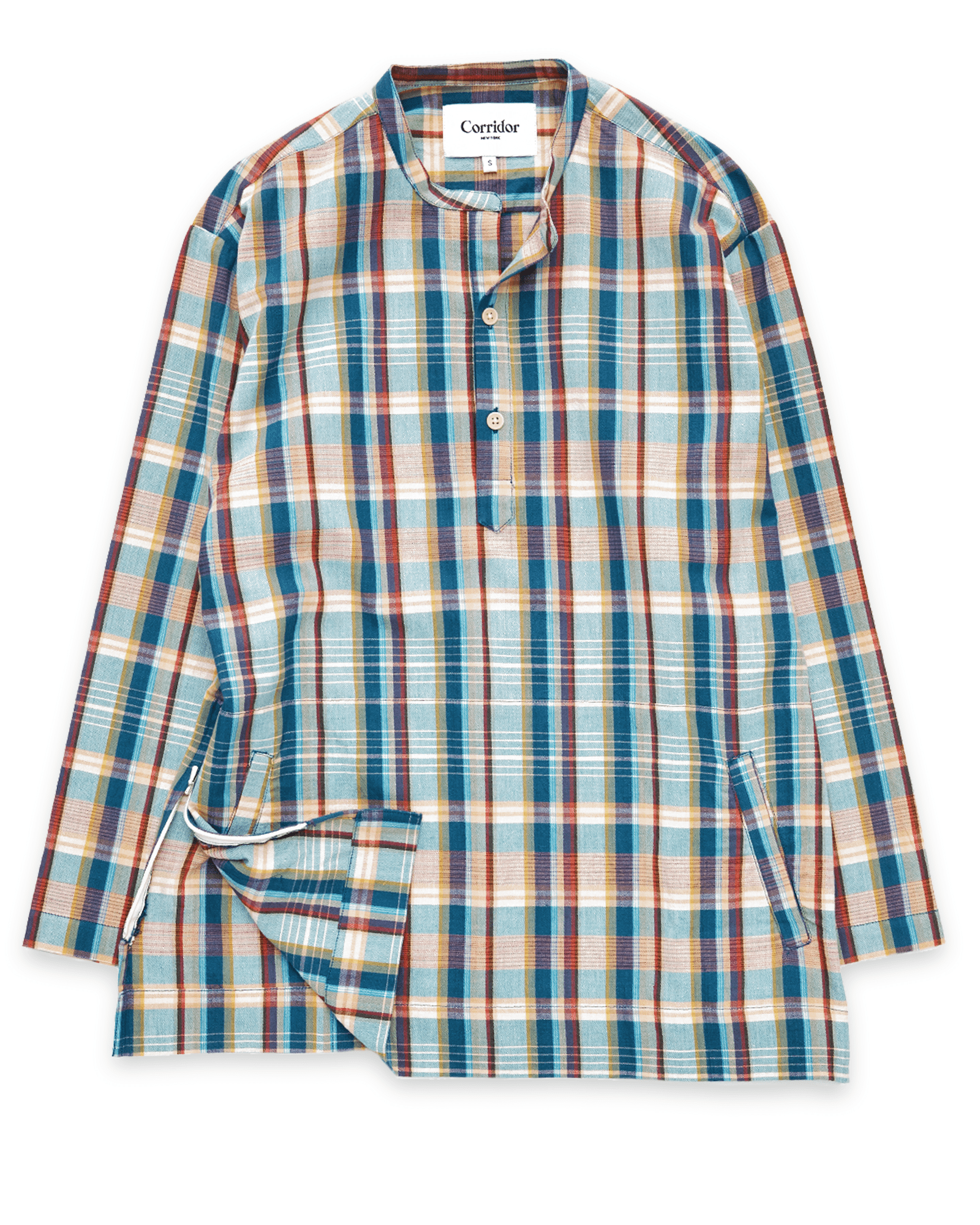 Teal Madras Popover