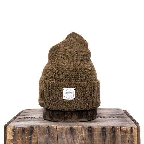 Upstate Stock - 100% Wool Watchcap - Coyote