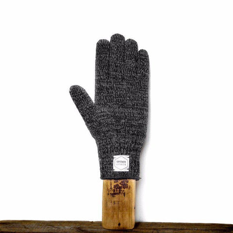 Upstate Stock - Rag Wool Gloves - Black Melange