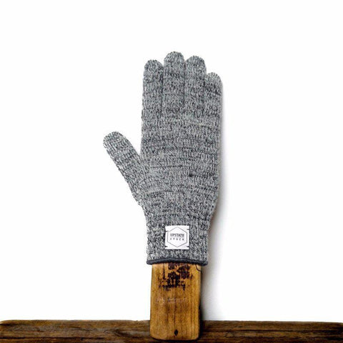 Upstate Stock - Rag Wool Gloves - Charcoal Melange