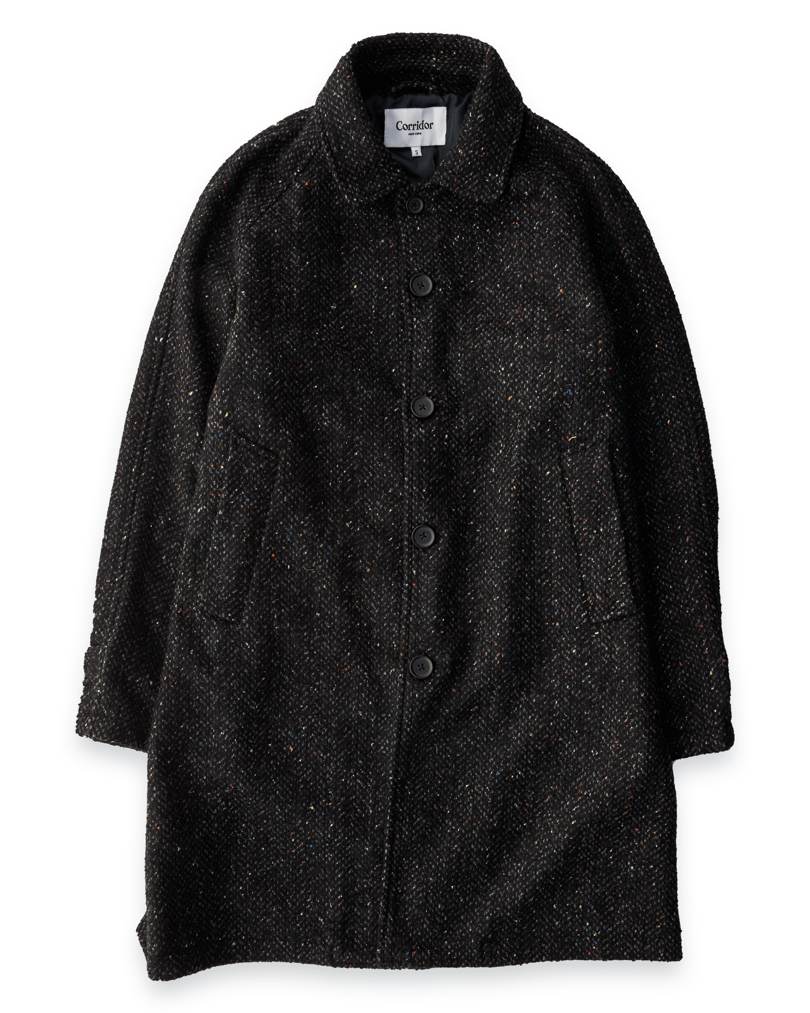 Italian Wool/Silk Tweed Herringbone Raglan