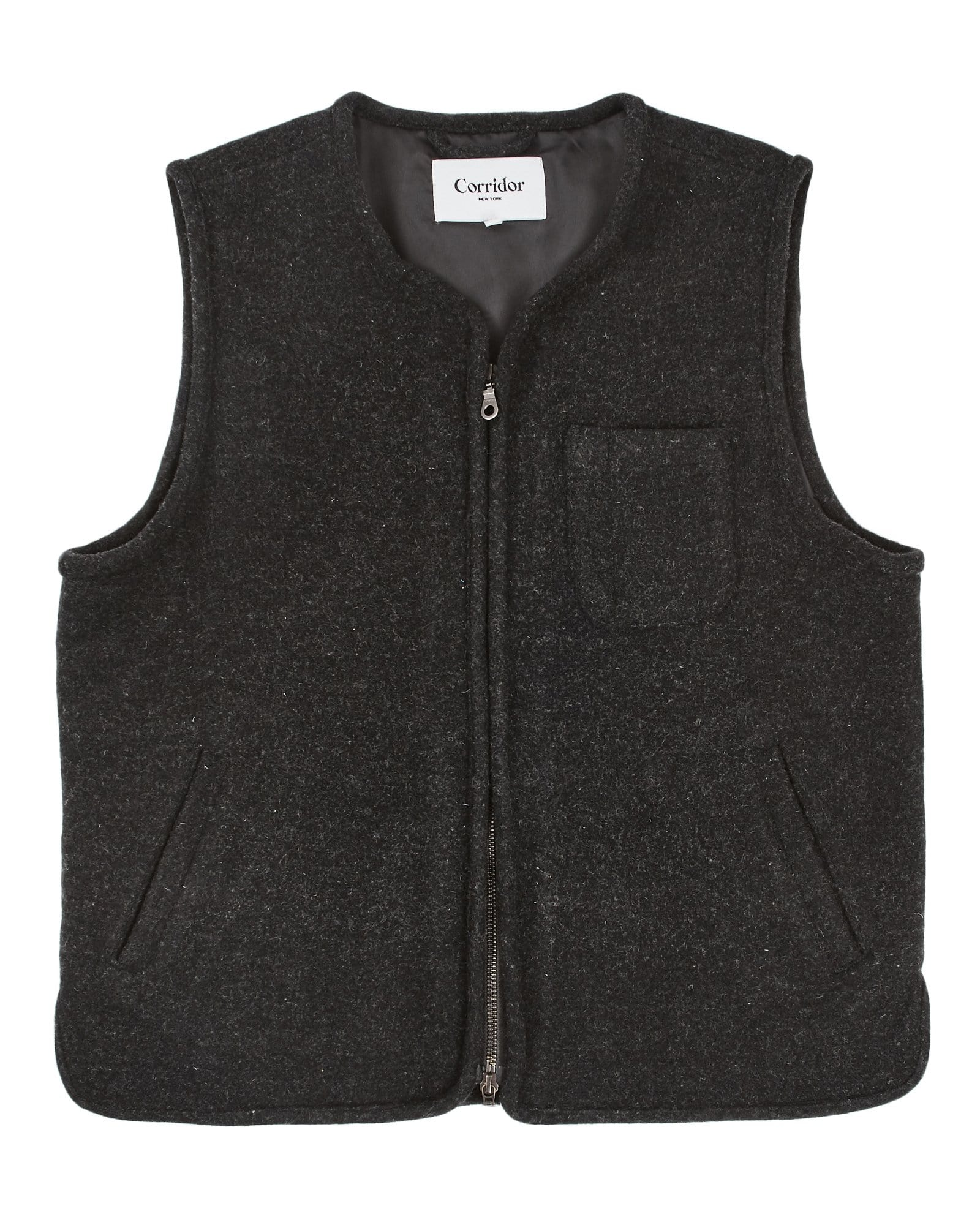 Charcoal Lambswool Vest