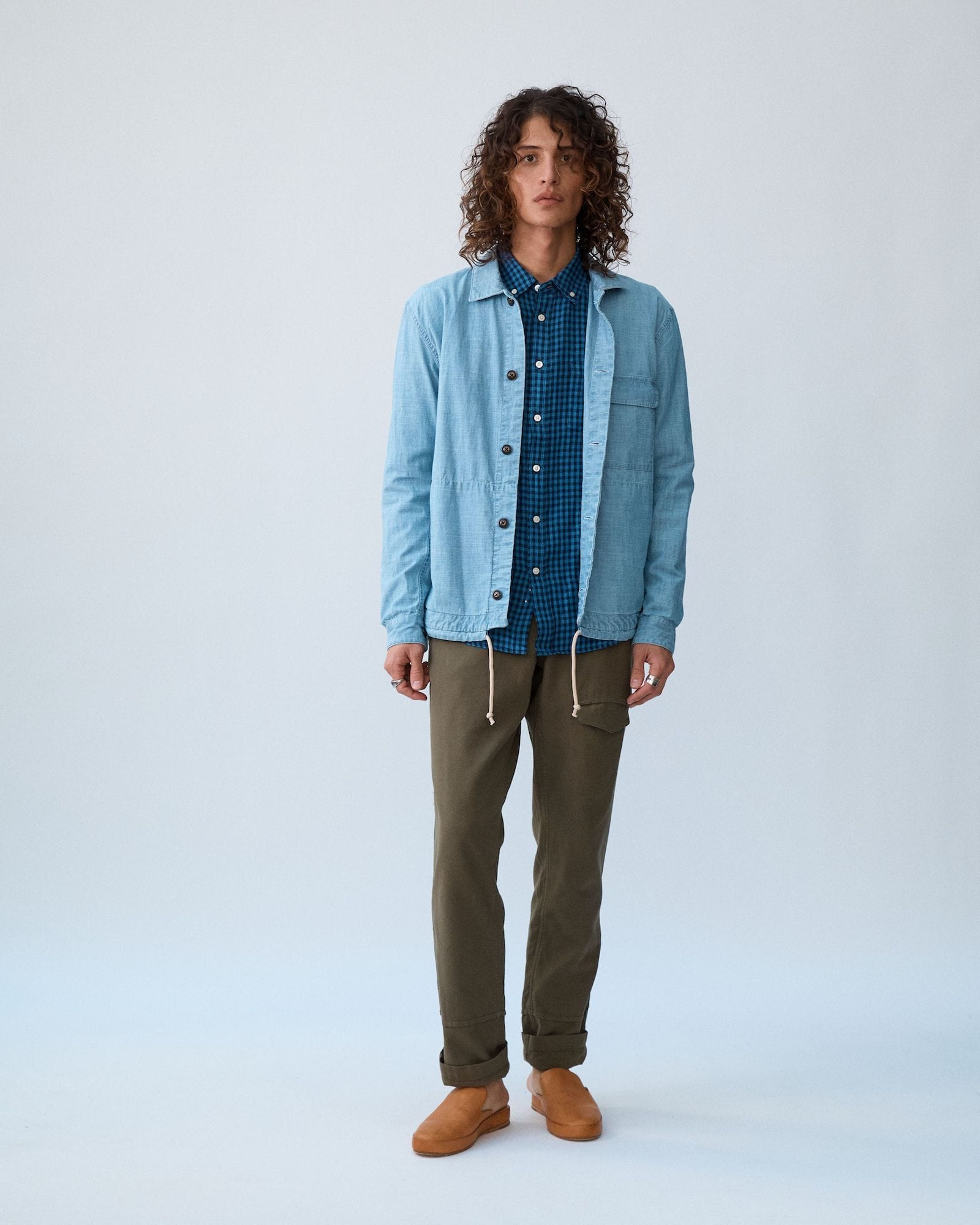 Washed Chambray Service Jacket
