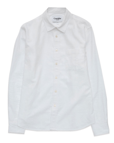 White Linen Cotton LS