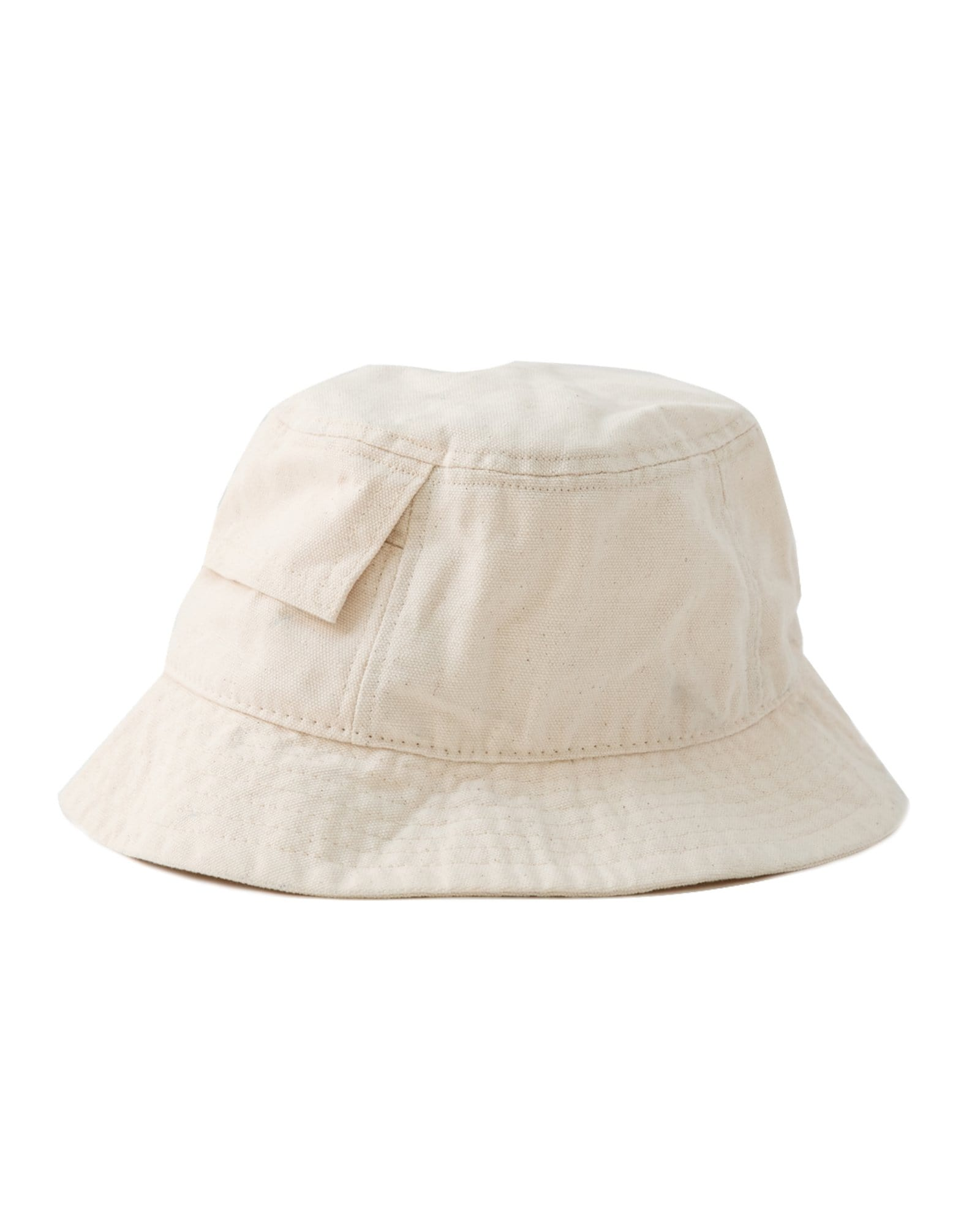 White Canvas Pocket Bucket