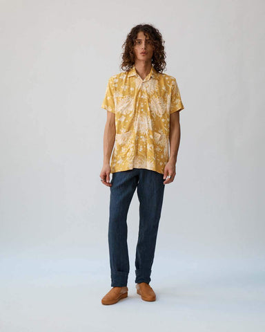 Yellow Floral Summer Shirt