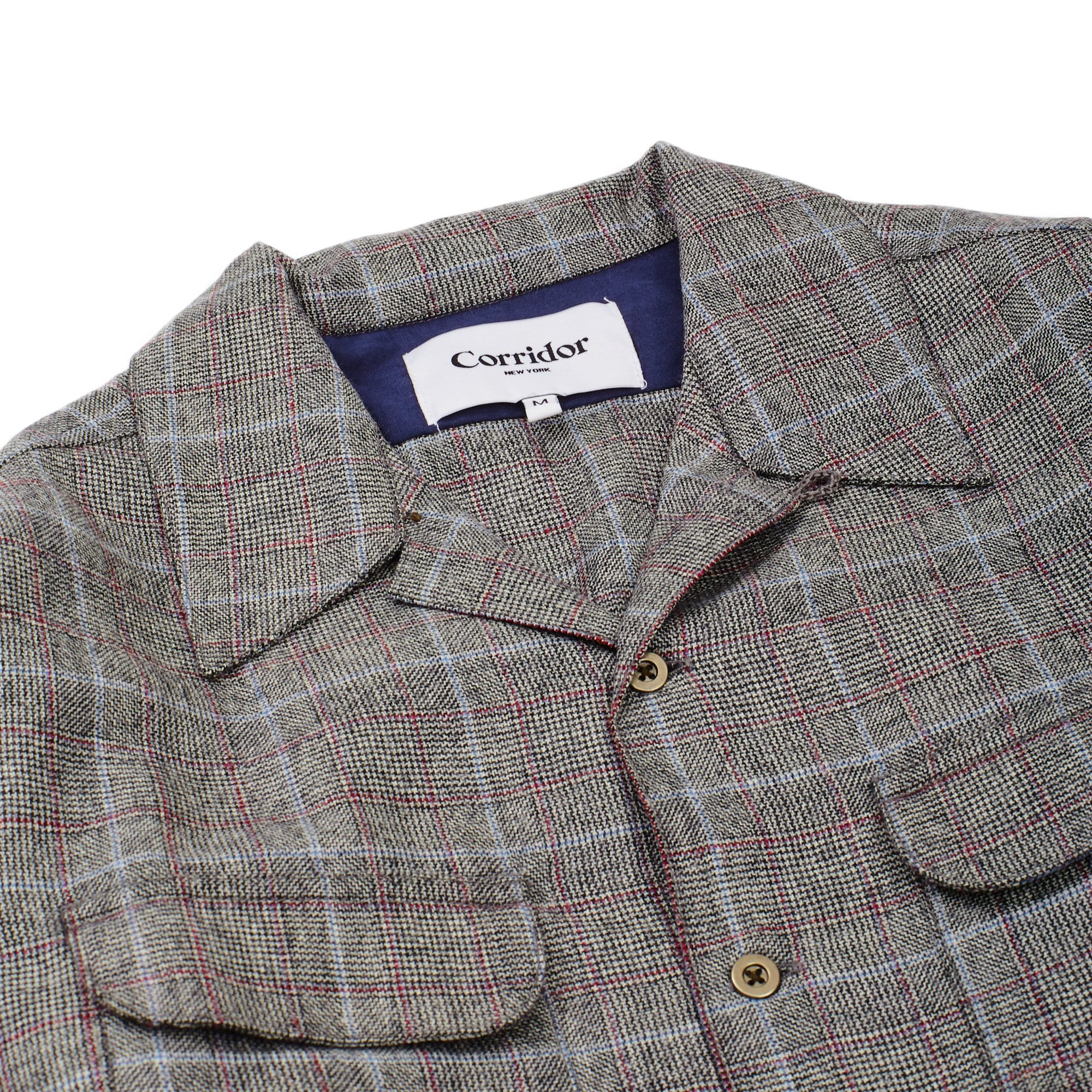 Wool Glencheck Work Shirt