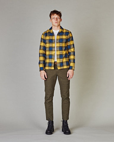 Yellow Winter Plaid Work Shirt