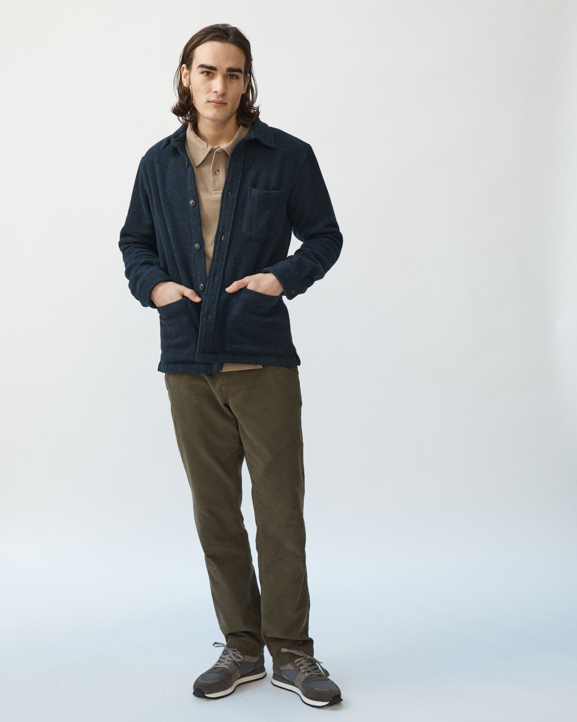 Lambswool (18oz) Jacket - Navy