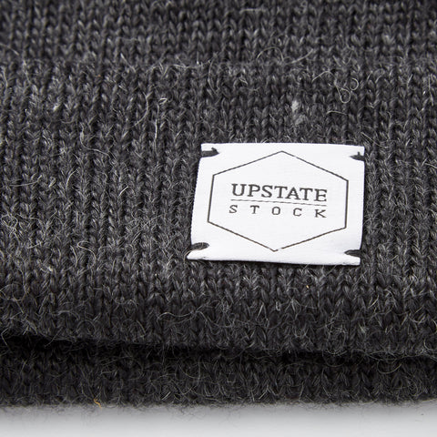 Upstate Stock American Mohair Beanie - Black