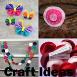 Green, Light Blue, Red, White Felt Circles Color Set (3/4 to 5 inch)
