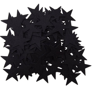 Black Felt Star Stickers (1.5 to 3inch)