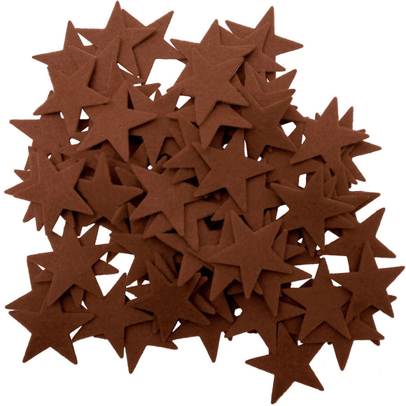 Brown Felt Star Stickers (1.5 to 3 Inch)