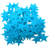 Light Blue Felt Star Stickers (1.5 to 3 Inch)