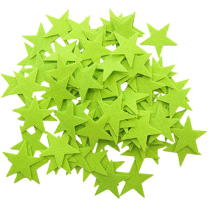 Light Green Felt Star Stickers (1.5 to 3 Inch)