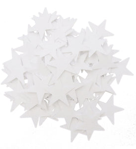 White Felt Star Stickers (1.5 to 3 Inch)